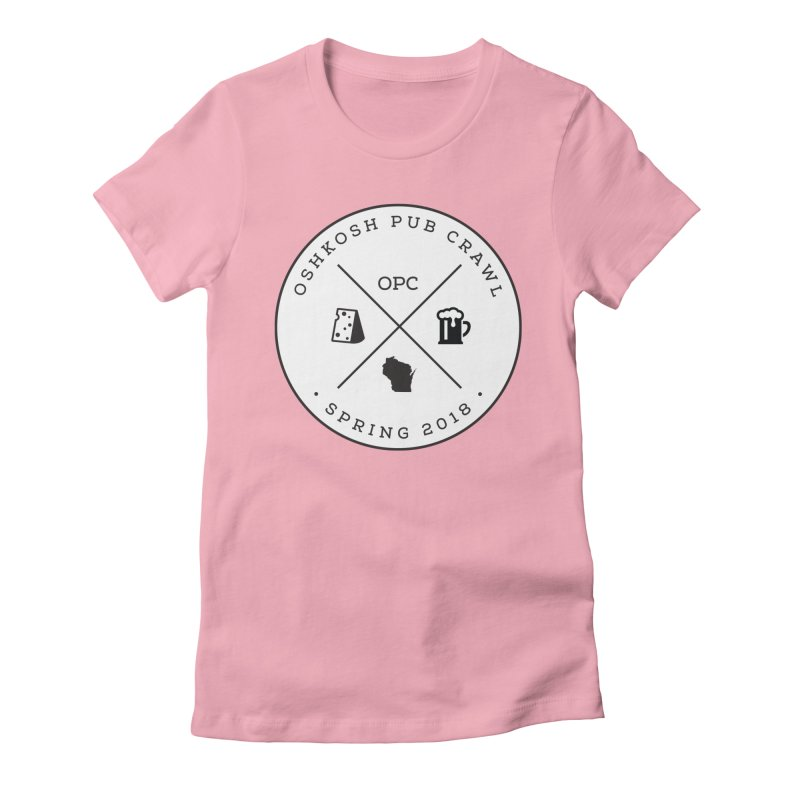 Badge in Women's Fitted T-Shirt Light Pink by Oshkosh Pub Crawl