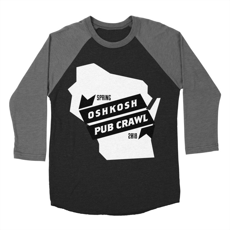 State of Mind in Men's Baseball Triblend Longsleeve T-Shirt Grey Triblend Sleeves by Oshkosh Pub Crawl