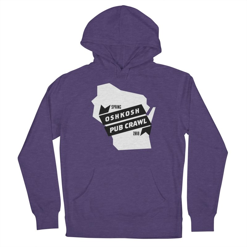State of Mind in Men's French Terry Pullover Hoody Heather Purple by Oshkosh Pub Crawl