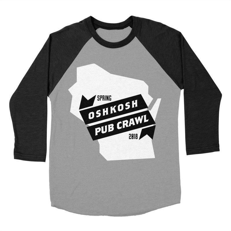 State of Mind Men's Baseball Triblend T-Shirt by Oshkosh Pub Crawl