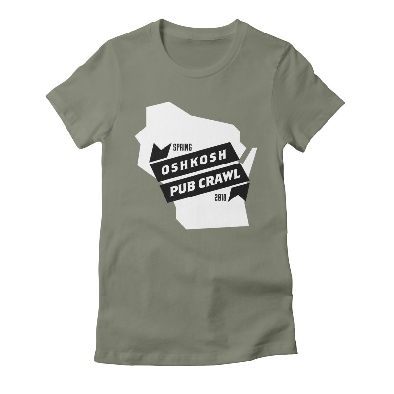 State of Mind Women's Fitted T-Shirt by Oshkosh Pub Crawl