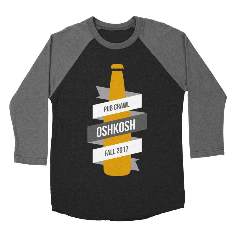Bottle (Multiple Colors) in Men's Baseball Triblend T-Shirt Grey Triblend Sleeves by Oshkosh Pub Crawl