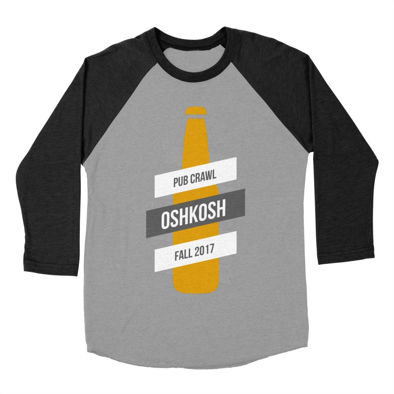 Bottle (Multiple Colors) Men's Baseball Triblend T-Shirt by Oshkosh Pub Crawl