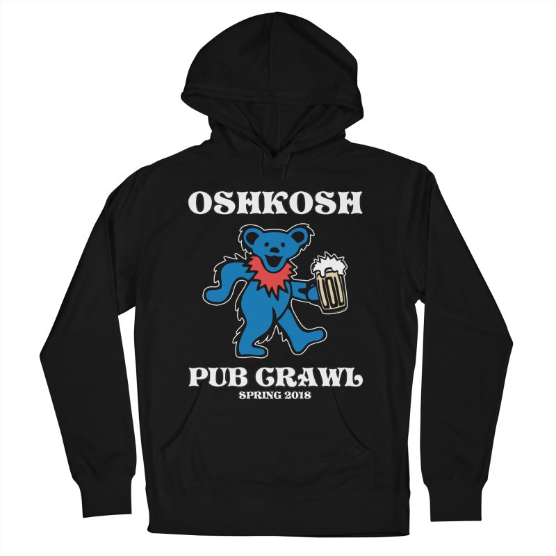 Grateful To Crawl in Men's French Terry Pullover Hoody Black by Oshkosh Pub Crawl