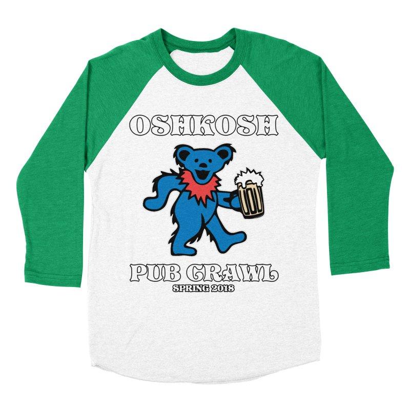Grateful To Crawl in Men's Baseball Triblend Longsleeve T-Shirt Tri-Kelly Sleeves by Oshkosh Pub Crawl