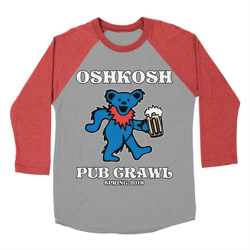 Grateful To Crawl Men's Baseball Triblend Longsleeve T-Shirt by Oshkosh Pub Crawl