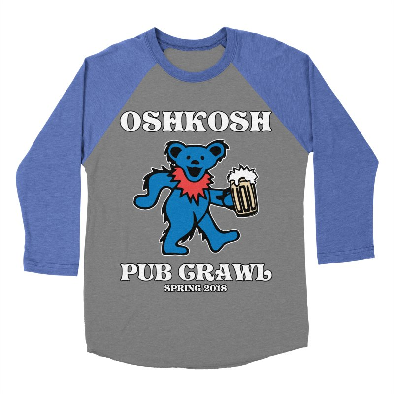 Grateful To Crawl Men's Baseball Triblend T-Shirt by Oshkosh Pub Crawl