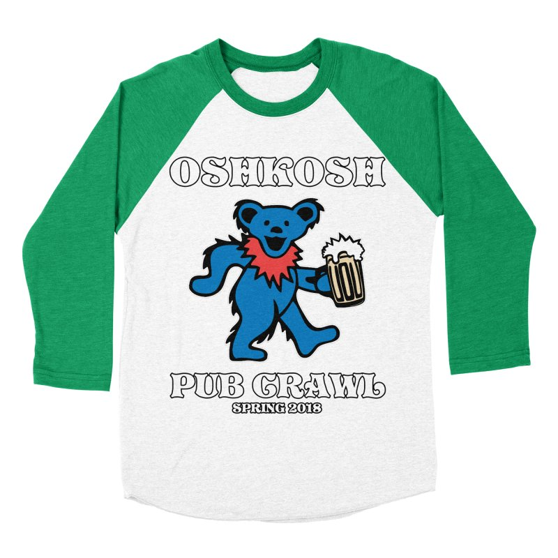 Grateful To Crawl in Men's Baseball Triblend Longsleeve T-Shirt Tri-Kelly Sleeves by Oshkosh Pub Crawl