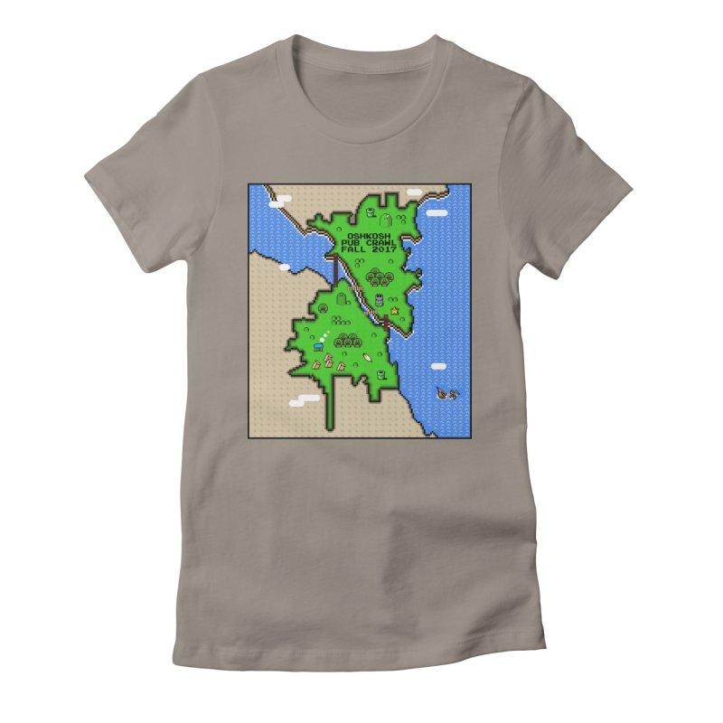 16 bits (Multiple Colors) Women's Fitted T-Shirt by Oshkosh Pub Crawl
