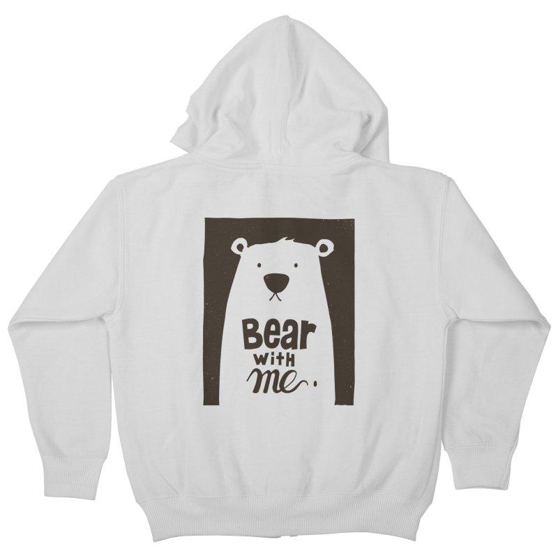 Bear With Me Kids Zip-Up Hoody by osinnowo's Artist Shop