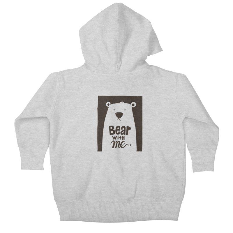 Bear With Me Kids Baby Zip-Up Hoody by osinnowo's Artist Shop