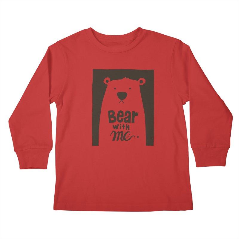 Bear With Me Kids Longsleeve T-Shirt by osinnowo's Artist Shop