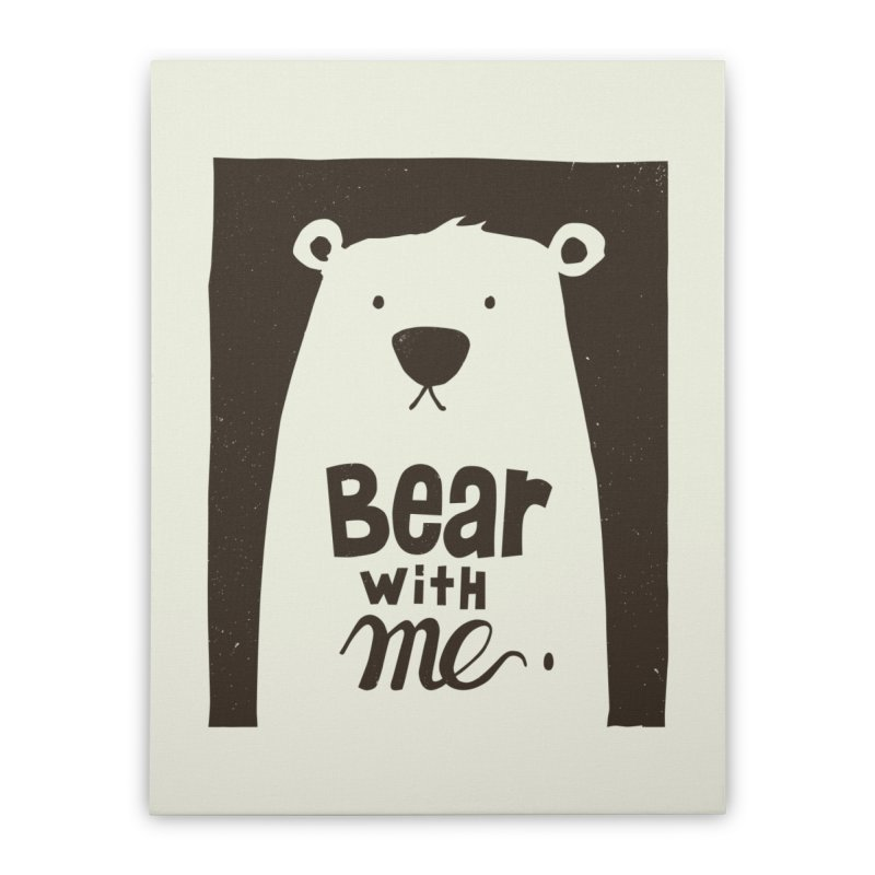 Bear With Me Home Stretched Canvas by osinnowo's Artist Shop