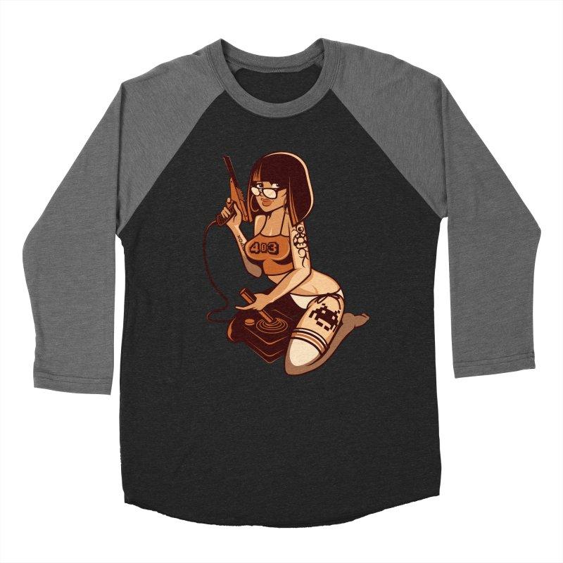 Geek Girl Men's Baseball Triblend T-Shirt by ouno