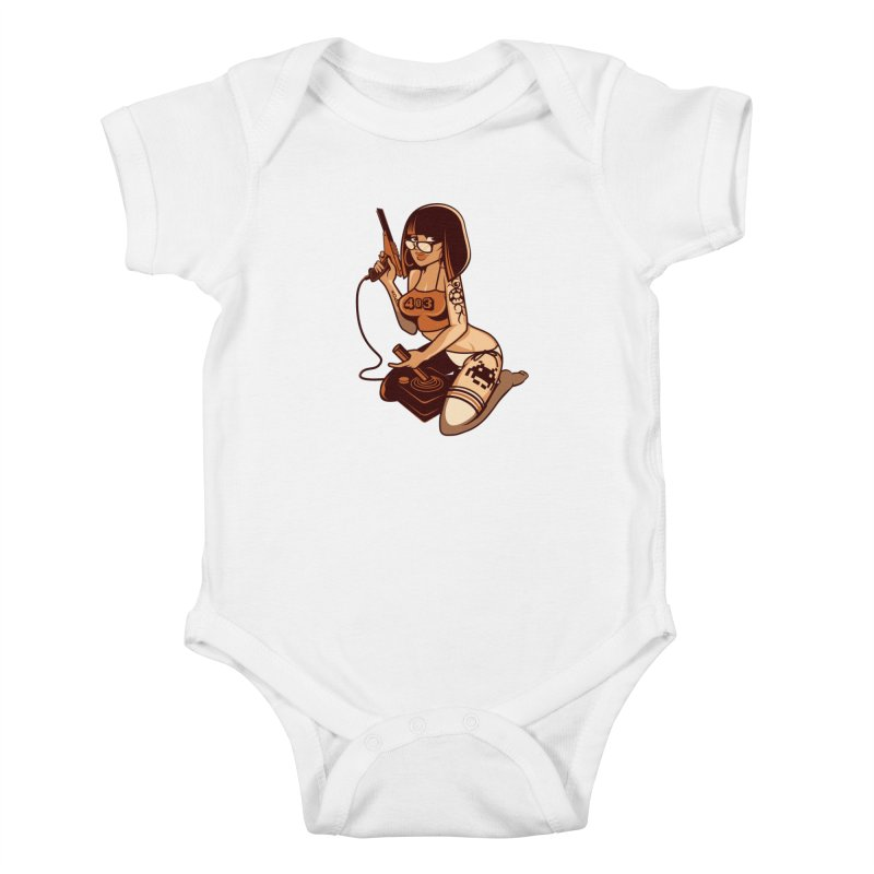 Geek Girl Kids Baby Bodysuit by ouno