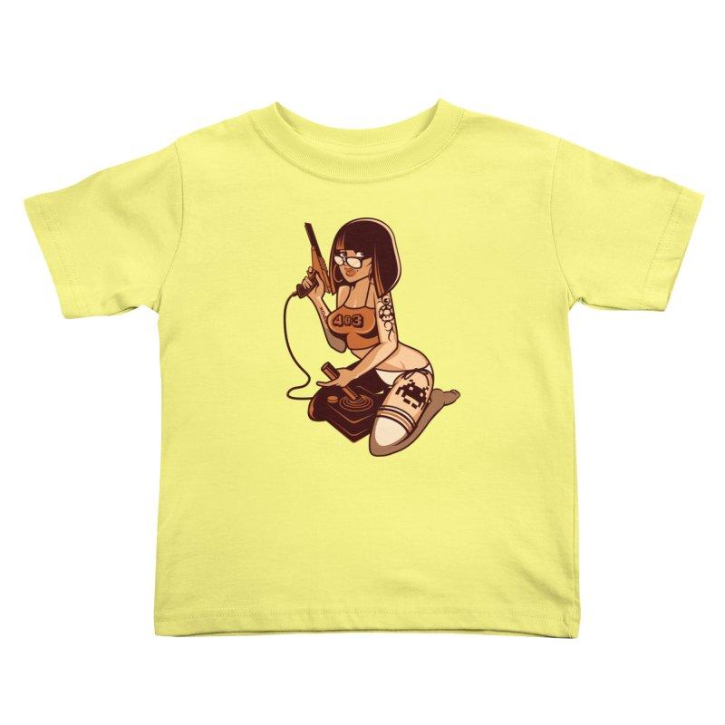 Geek Girl Kids Toddler T-Shirt by ouno