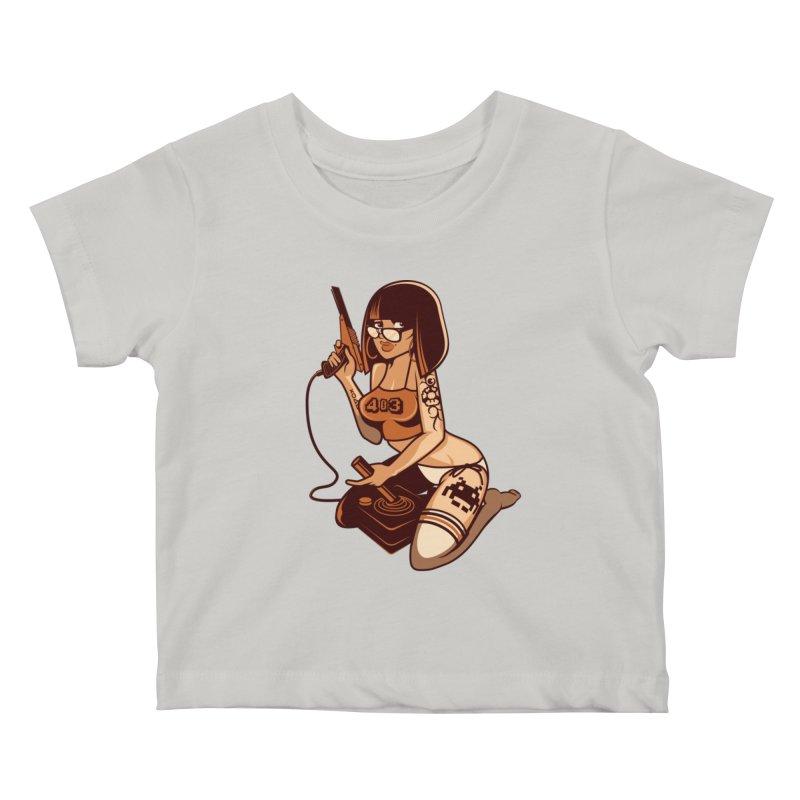 Geek Girl Kids Baby T-Shirt by ouno