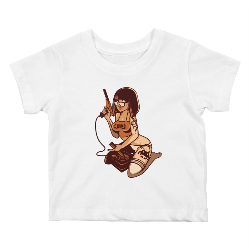 Geek Girl Kids Baby T-Shirt by ouno