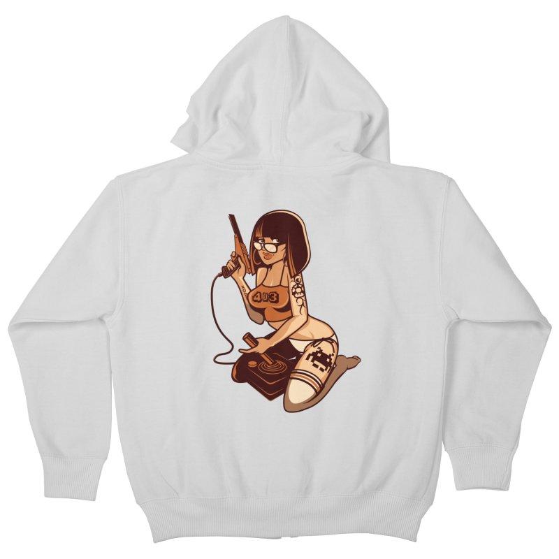 Geek Girl Kids Zip-Up Hoody by ouno