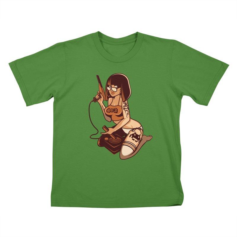 Geek Girl Kids T-shirt by ouno