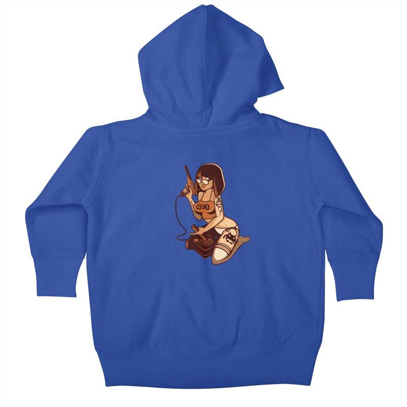 Geek Girl Kids Baby Zip-Up Hoody by ouno