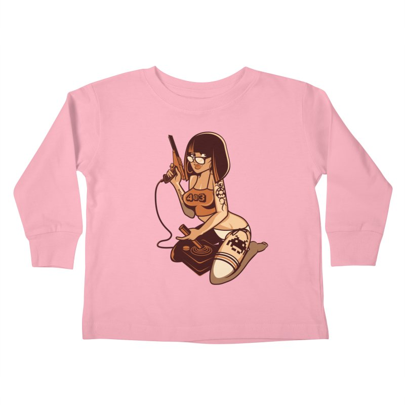 Geek Girl Kids Toddler Longsleeve T-Shirt by ouno