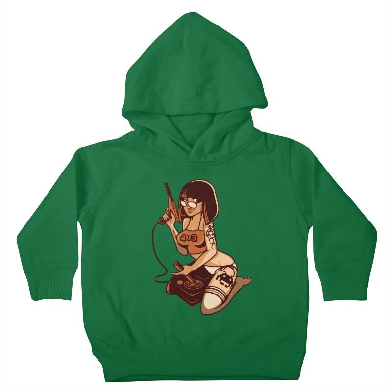 Geek Girl Kids Toddler Pullover Hoody by ouno