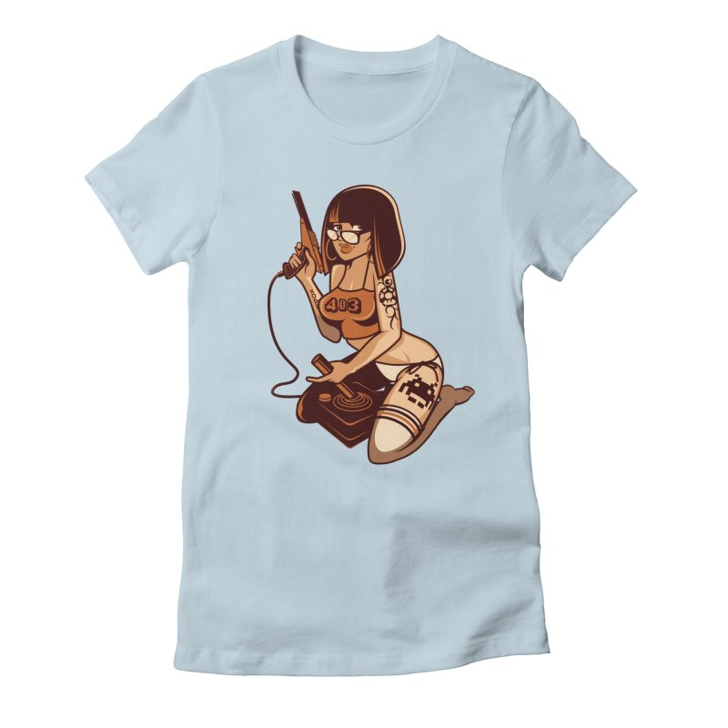 Geek Girl Women's Fitted T-Shirt by ouno
