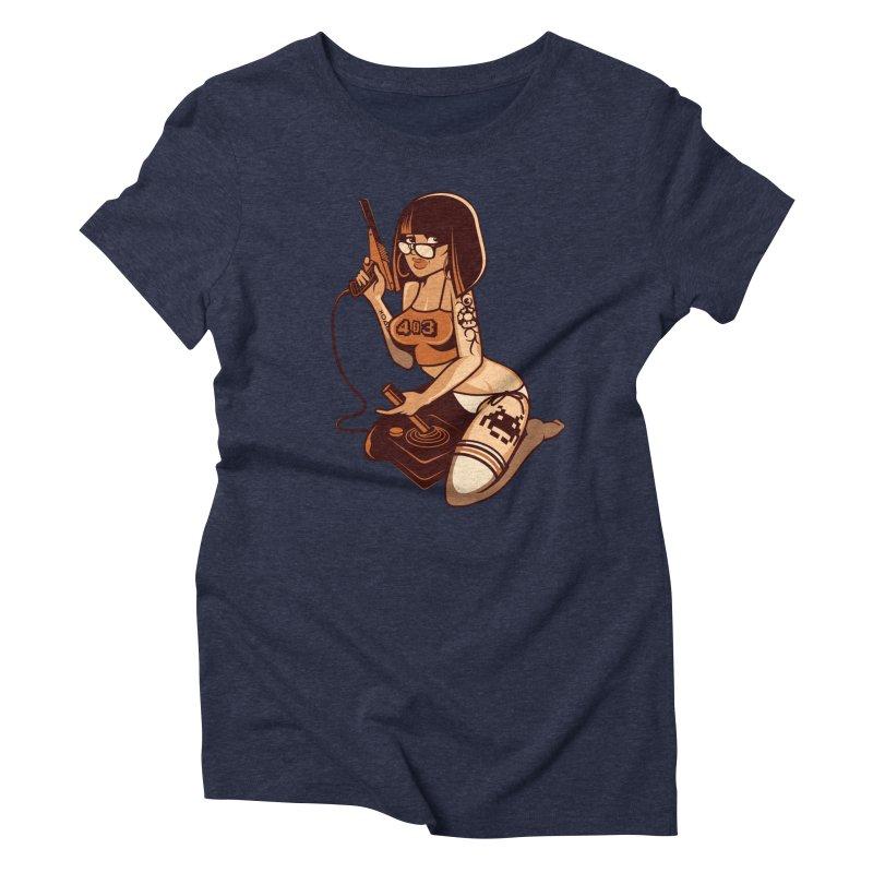 Geek Girl Women's Triblend T-shirt by ouno