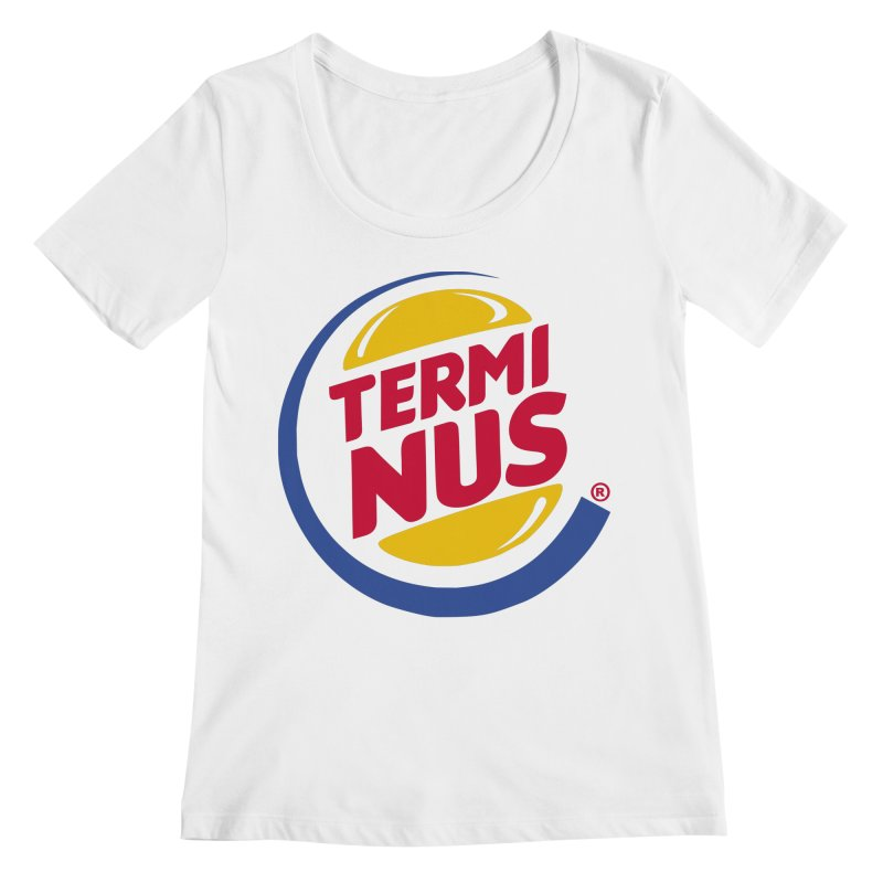 Terminus Burger  Women's Scoopneck by ouno