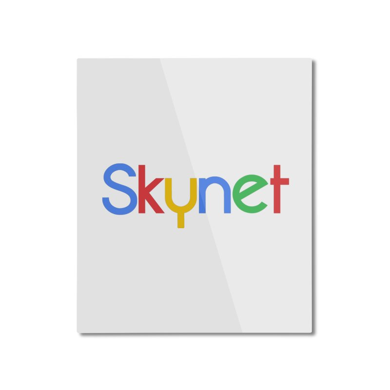 Skynet Home Mounted Aluminum Print by ouno