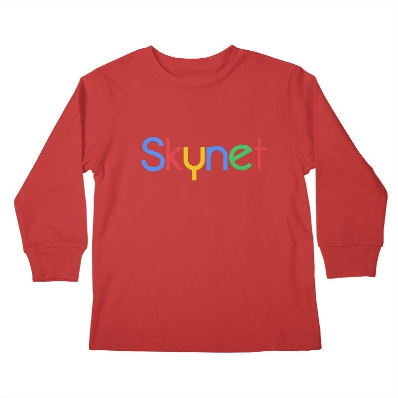 Skynet Kids Longsleeve T-Shirt by ouno