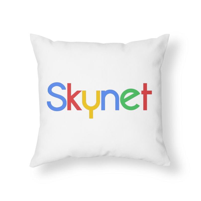 Skynet Home Throw Pillow by ouno