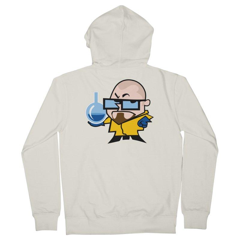 Dexter White Men's Zip-Up Hoody by ouno