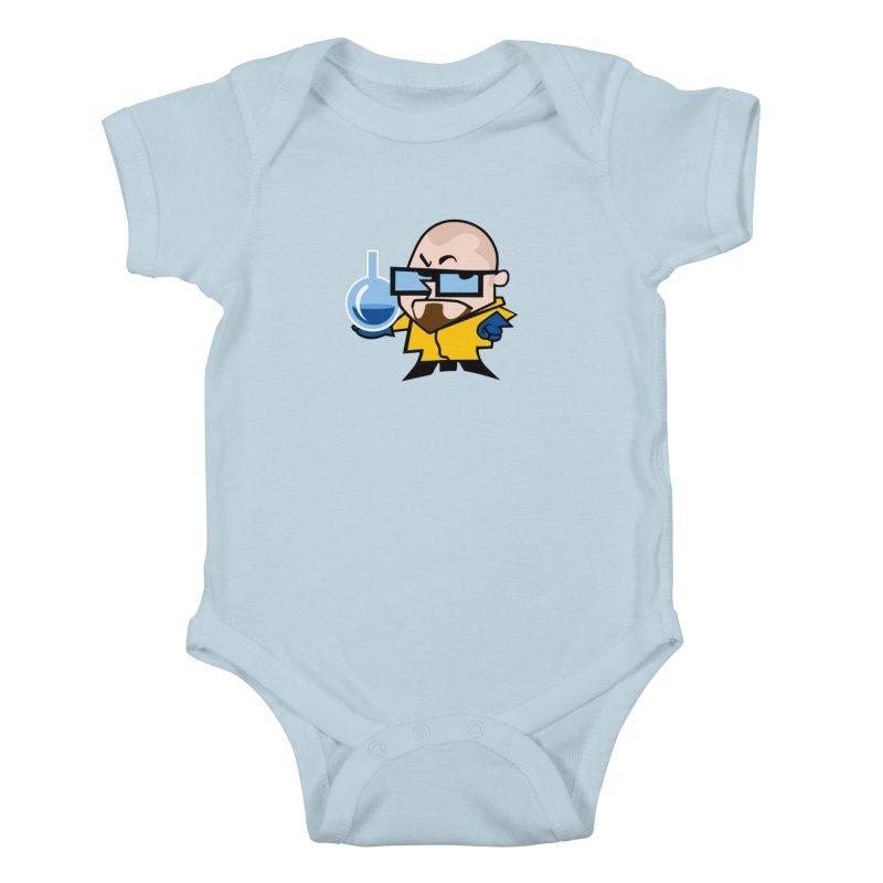 Dexter White Kids Baby Bodysuit by ouno