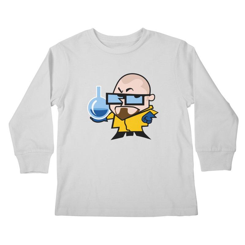Dexter White Kids Longsleeve T-Shirt by ouno