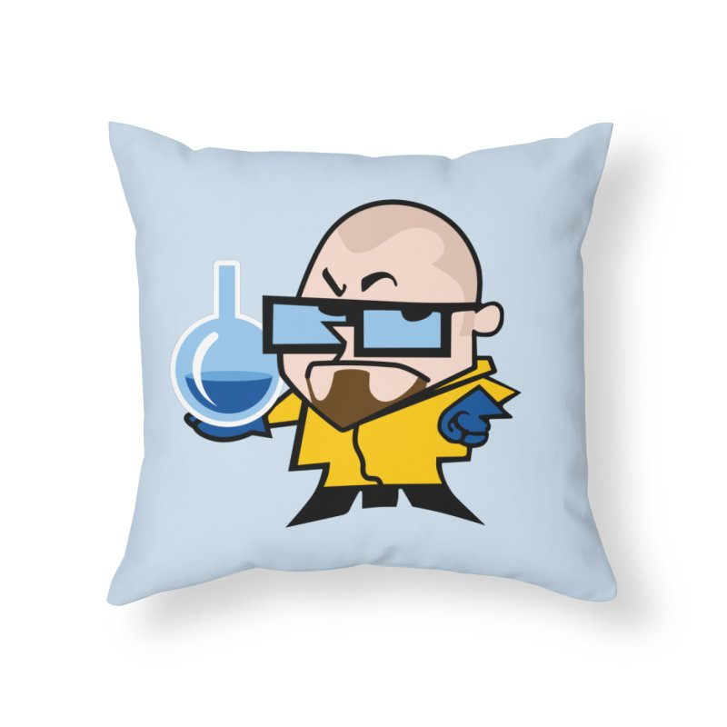 Dexter White Home Throw Pillow by ouno