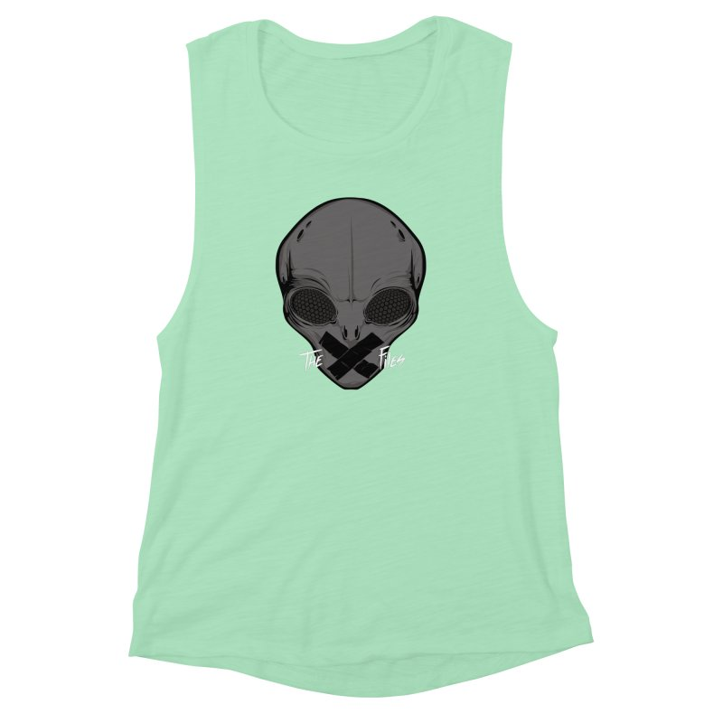 Restricted Information Women's Muscle Tank by ouno
