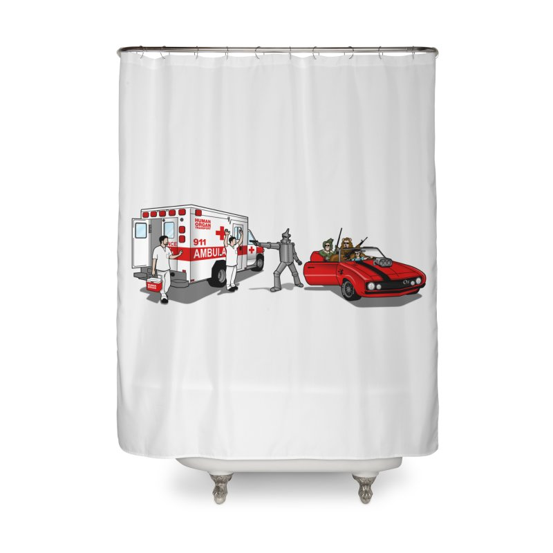 Heartless Home Shower Curtain by ouno
