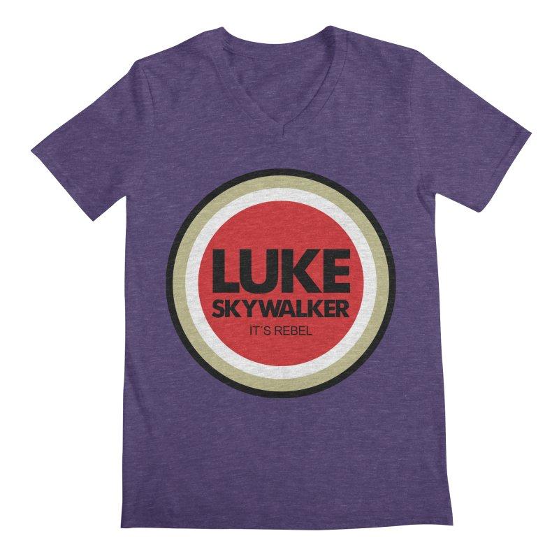 Luke Skywalker Men's V-Neck by ouno