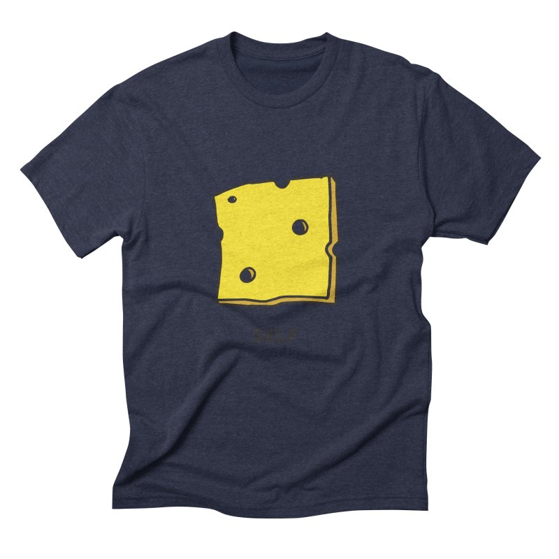 Cheese Men's Triblend T-shirt by Ourself