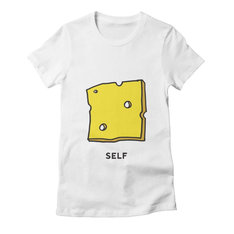 Cheese Women's Fitted T-Shirt by Ourself
