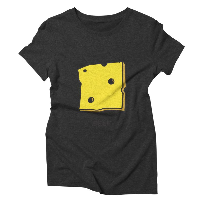 Cheese Women's Triblend T-shirt by Ourself