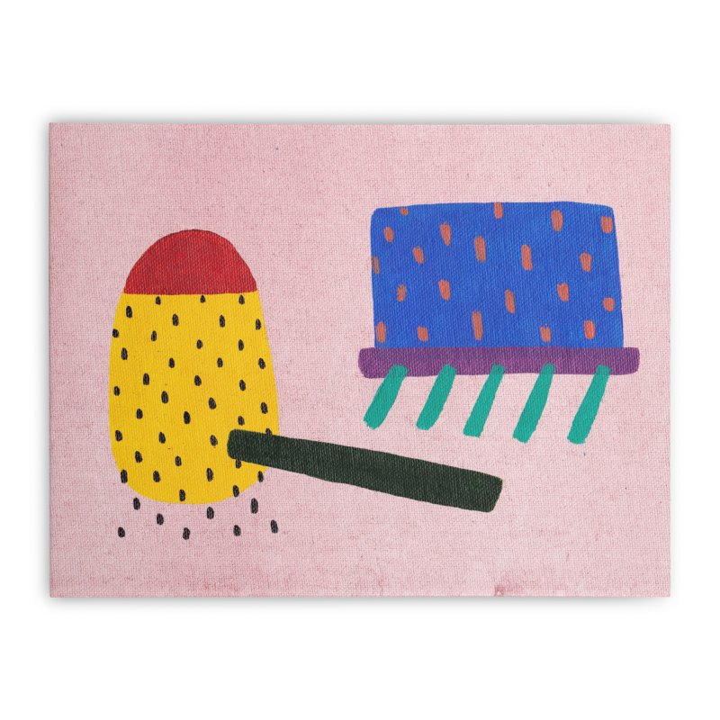 Camp Home Stretched Canvas by Ourself