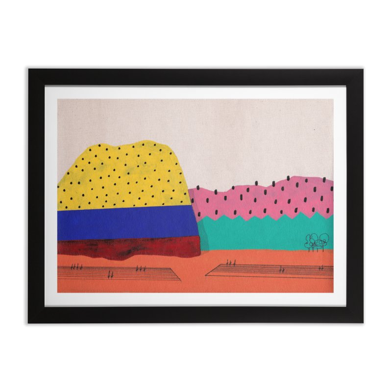 Melancholy Hill Home Framed Fine Art Print by Ourself