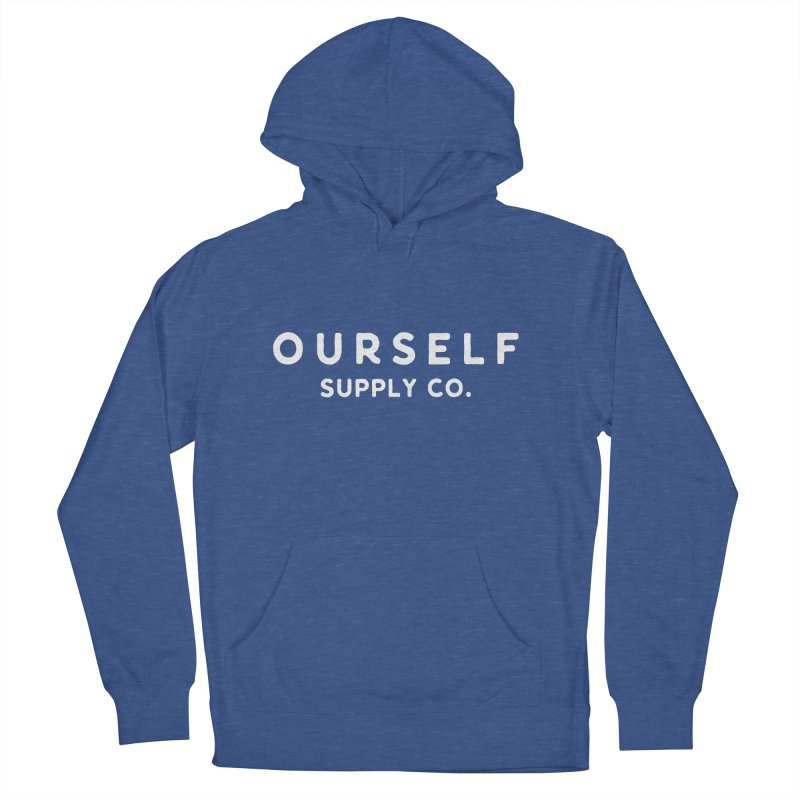 White Logo Men's Pullover Hoody by Ourself