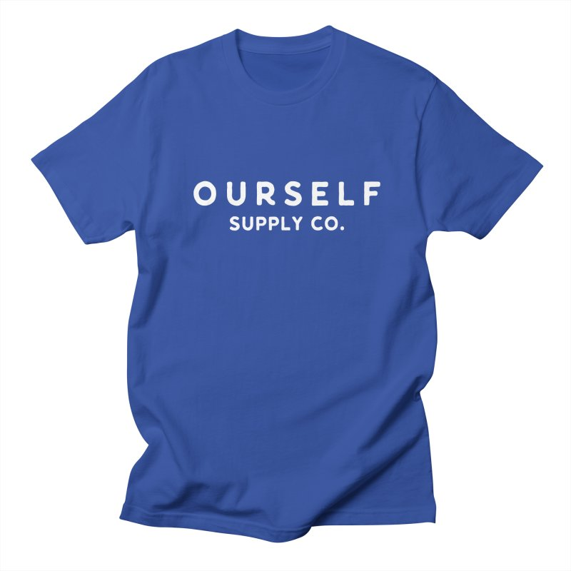 White Logo Men's T-Shirt by Ourself