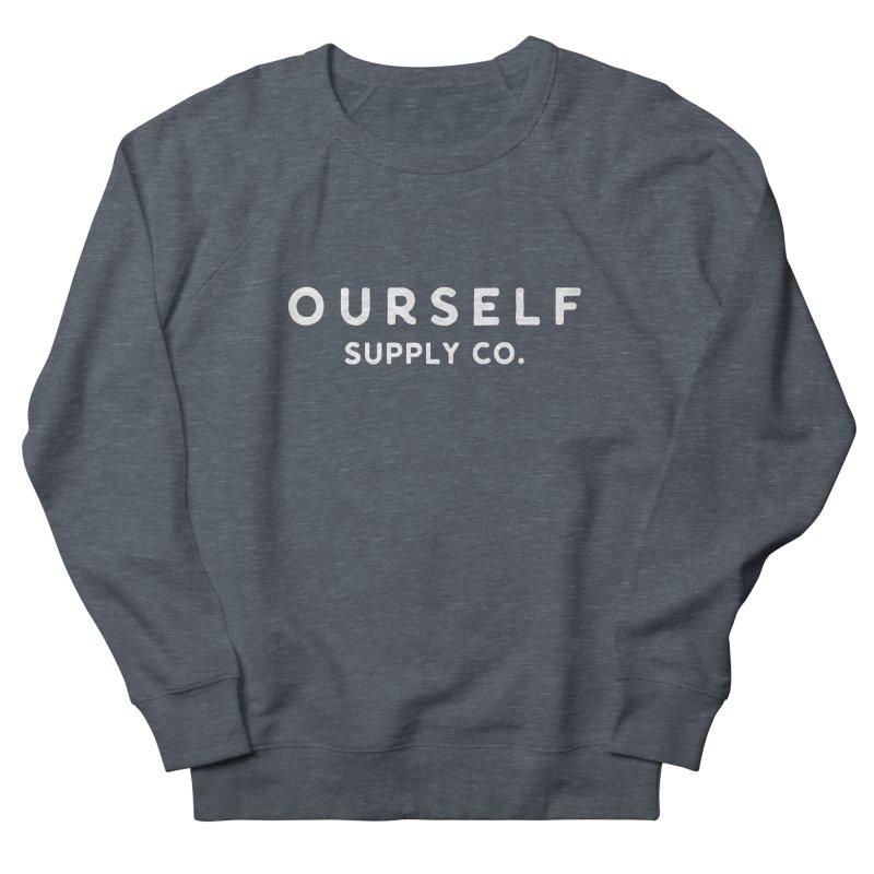 White Logo Men's Sweatshirt by Ourself