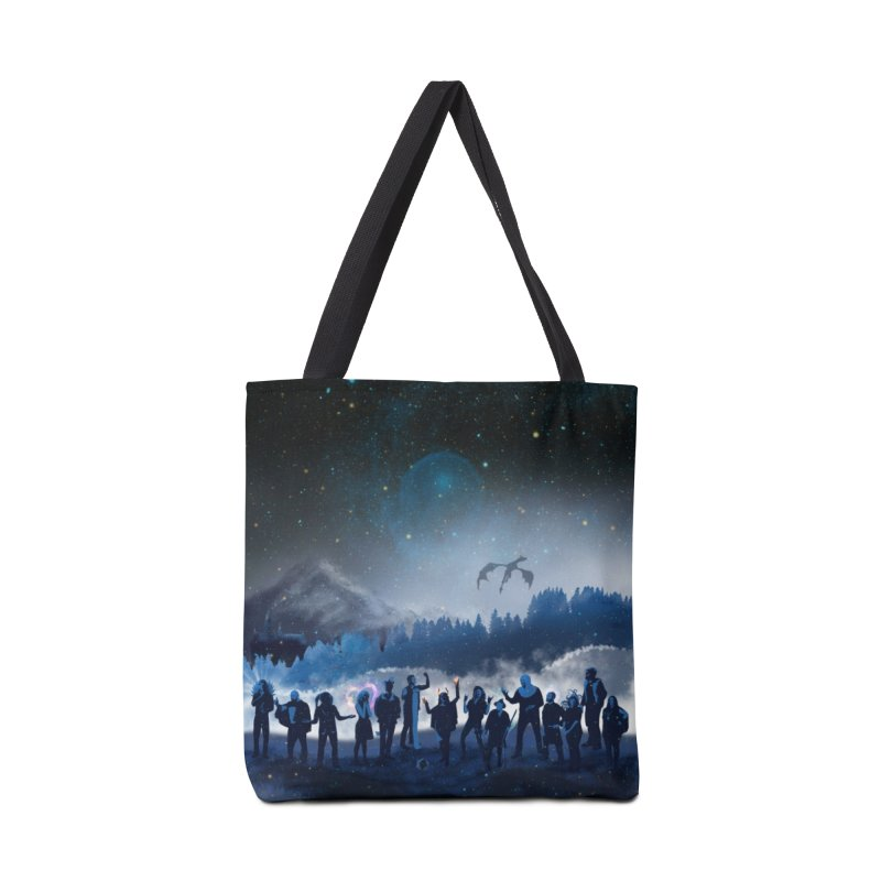 Winter Poster in Tote Bag by Out On A Whim