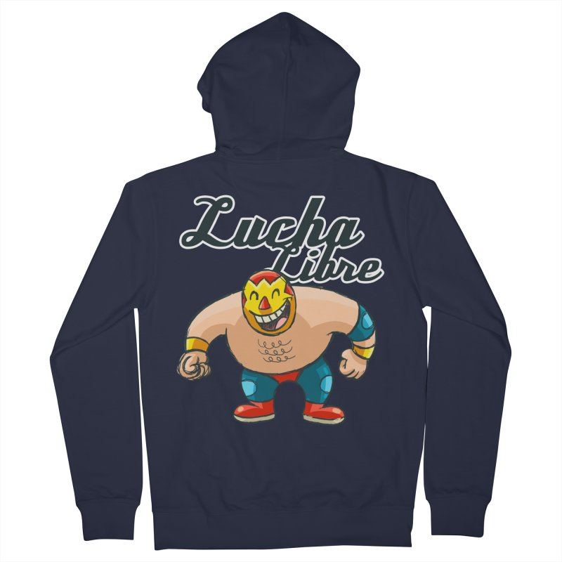 Lucha Libre Men's Zip-Up Hoody by Outsider_Design Artist Shop